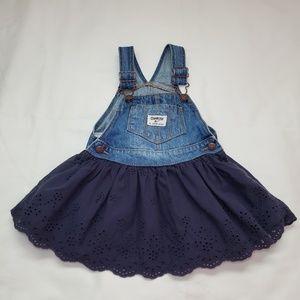 Oshkosh B'gosh girl's overalls Jean dress.